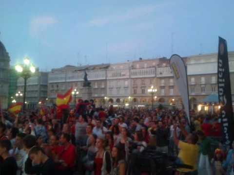 Celebración de la victoria en María Pita