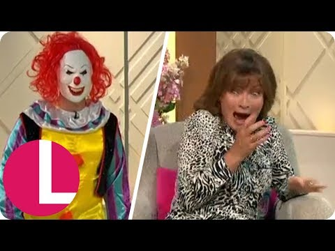 Lorraine Kelly Left Screaming After Terrifying Clown Prank Live on Air! | Lorraine
