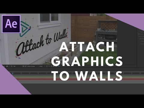 How to Attach Text & Graphics to Walls in After Effects