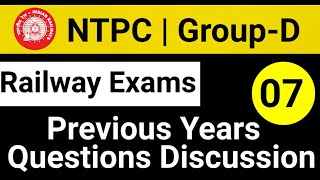 Class- 07 RRB Previous Years questions   NTPC GROUP-D   15 DEC