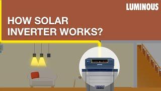 Solar Inverter: How Does A Solar Inverter Work | Luminous Solar