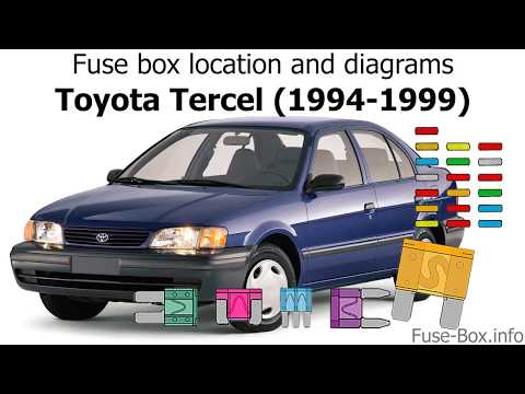 Fuse box location and diagrams: Toyota Tercel (1994-1999) - YouTubeYouTube