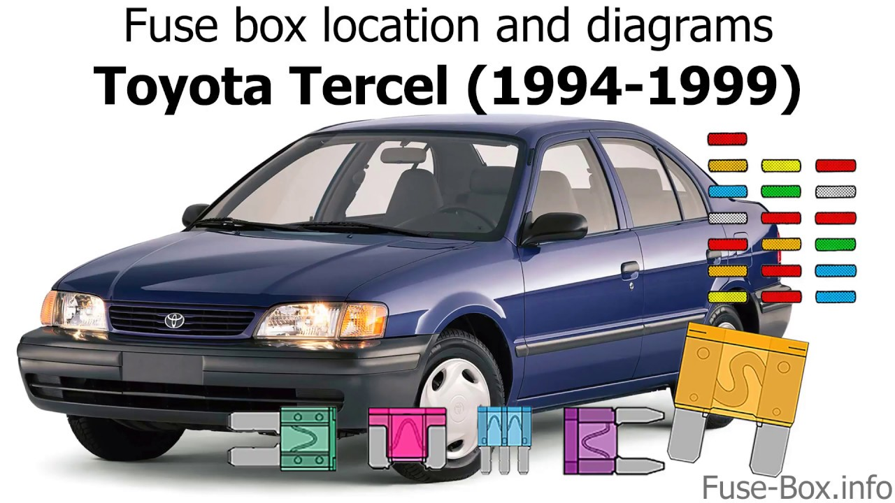 Fuse box location and diagrams: Toyota Tercel (1994-1999) - YouTube