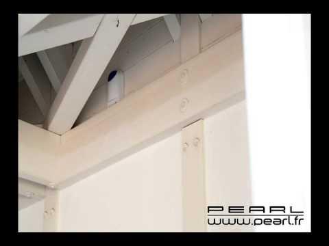 px3804 barri re infrarouge alimentation solaire pour syst mes d 39 alarme visortech youtube. Black Bedroom Furniture Sets. Home Design Ideas