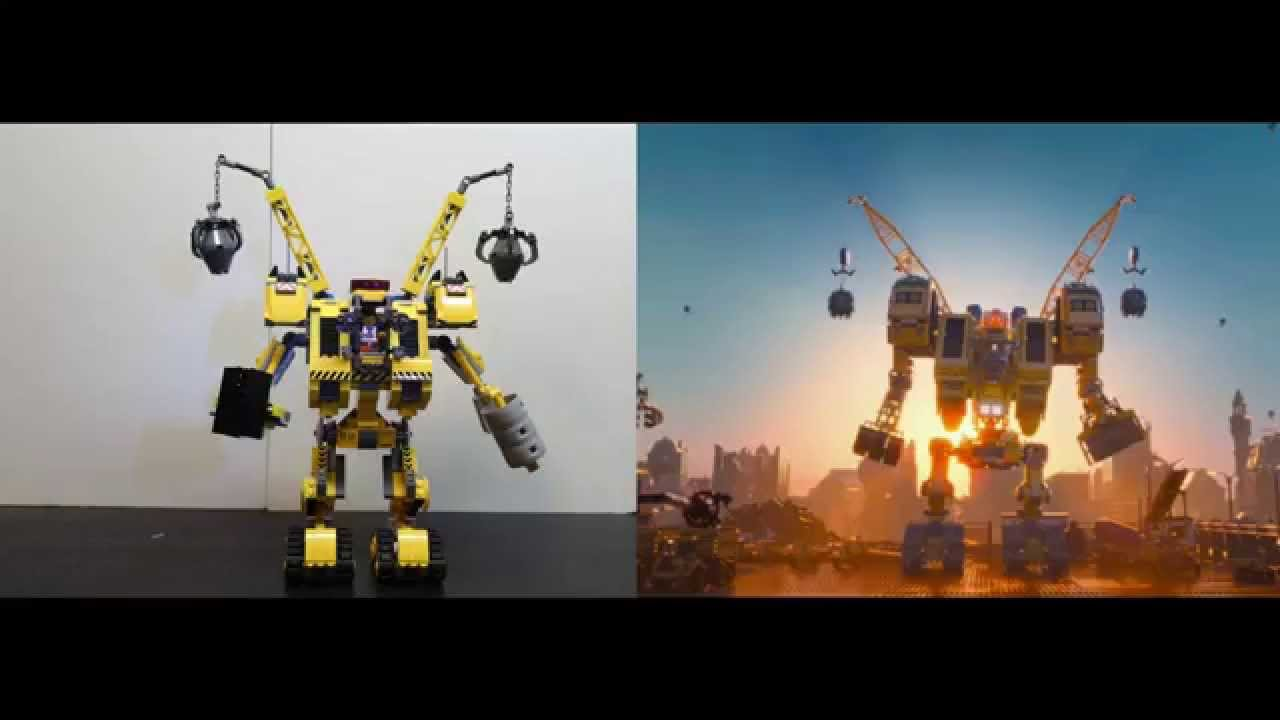 Lego Side By Side Comparison To Movie Emmets Construct O Mech 70814