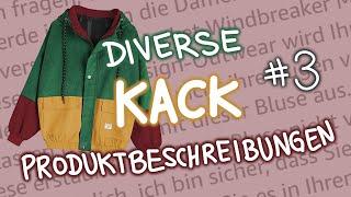 Diverse Kack-Produktbeschreibungen #3