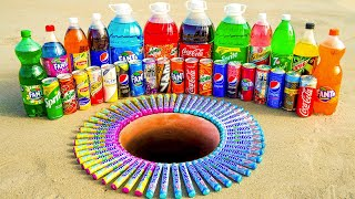 Big Coca Cola, Fanta, Sprite, Mirinda and 7up, Lipton, Mtn Dew, Schweppes vs Mentos Underground