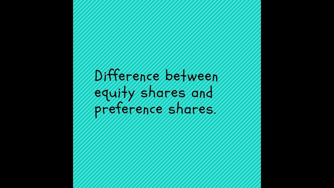 differences between preference shares and debentures Legalvision practice leader, jill mcknight, explains the difference between ordinary shares and preference shares and when startup founders may issue each.