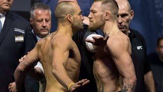 UFC 205 McGregor vs Alvarez Staredown.