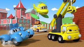 Videos de camiones para niños - Jugando a la Estatua - bebés en Auto City