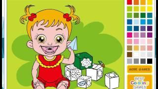 Мультик игра Малышка Хейзел раскраска (Baby Hazel Coloring)