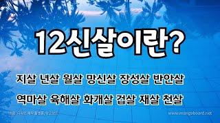 12신살이란 / 12신살의 의미