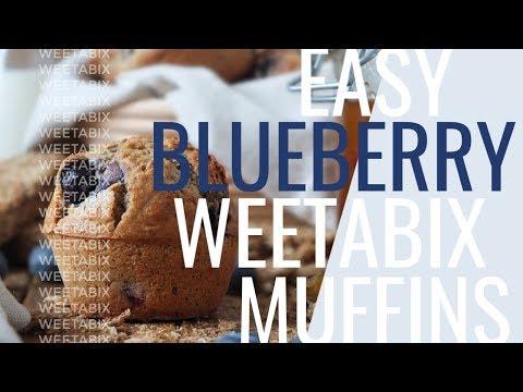 Easy Blueberry Weetabix Muffins