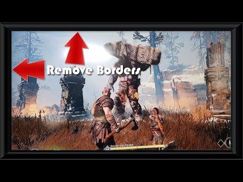 Set God of War 4 to full screen or Remove Black Borders Fix