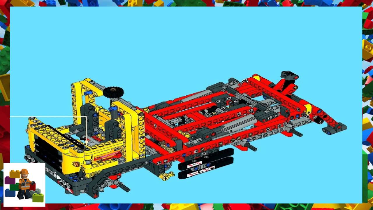 Lego Instructions Technic 42024 Container Truck Book 2 Youtube