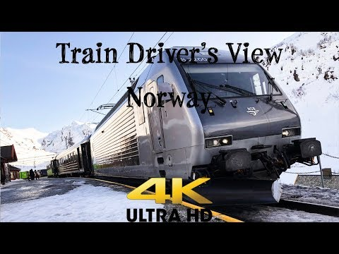 Train Driver's View: Flåm Line in early spring sunshine 4K ULTRA HD!