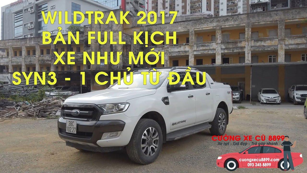 Xe bán tải ford Ranger Wildtrak 3.2 cũ 2017 trắng trả góp còn như mới