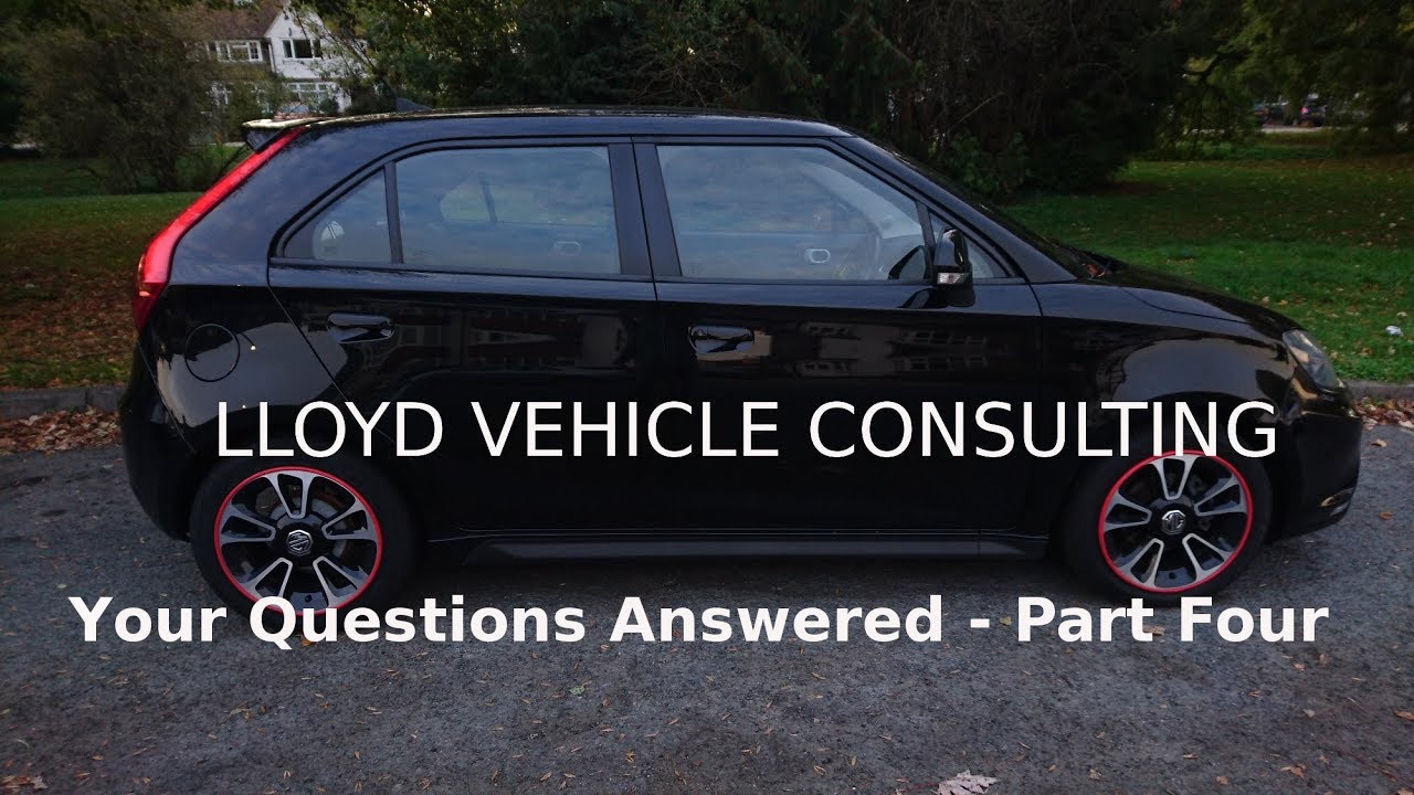 Your Questions Answered (Part Four) – Lloyd Vehicle Consulting