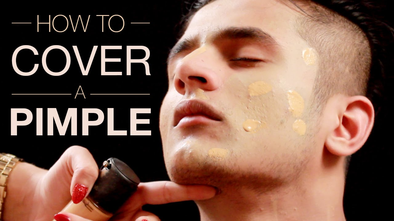 How To Cover A Pimple Mild Acne Scarring Makeup Tutorial For Acne Makeup For Men Part 1 Youtube