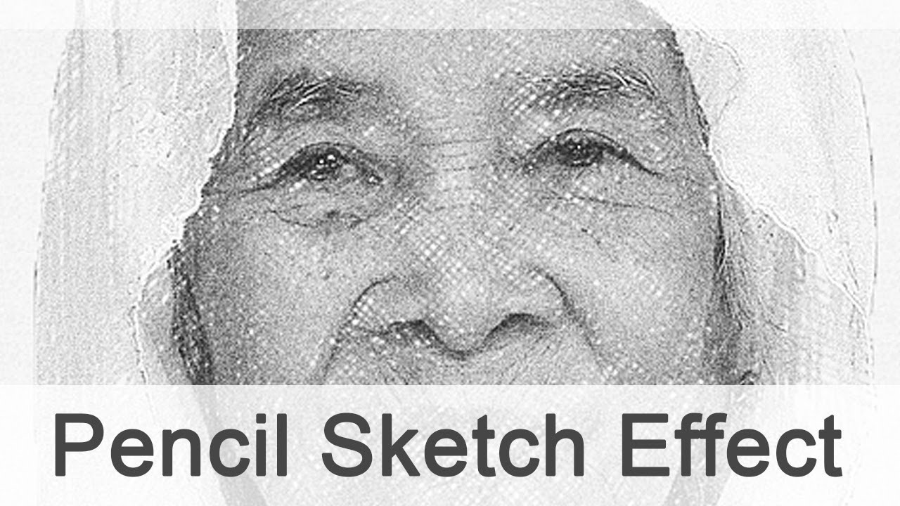 Photoshop pencil sketch effect youtube