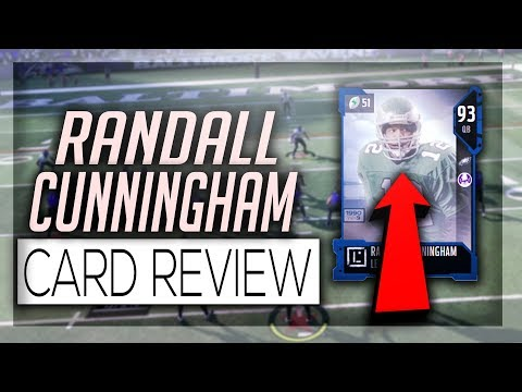RANDALL CUNNINGHAM 93 OVERALL CARD REVIEW!!! HOW GOOD IS HE???| MADDEN 18 ULTIMATE TEAM