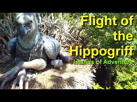 Flight of the Hippogriff Roller Coaster On Ride POV Universal Studios Orlando
