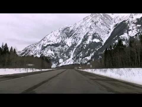 Elkford, Sparwood, Crowsnest Pass BC/Alberta Time Lapse Dashcam Drive