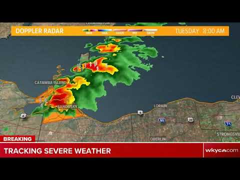 Severe weather moving into Northeast Ohio