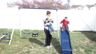 Kids Get A Swing Set For Easter- Flexible Flyer
