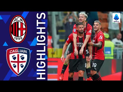 Milan 4-1 Cagliari   Giroud opens his account with Milan in style!   Serie A 2021/22