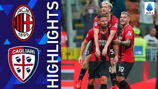Milan 4 1 Cagliari Giroud opens his account with Milan in style Serie A 2021 22