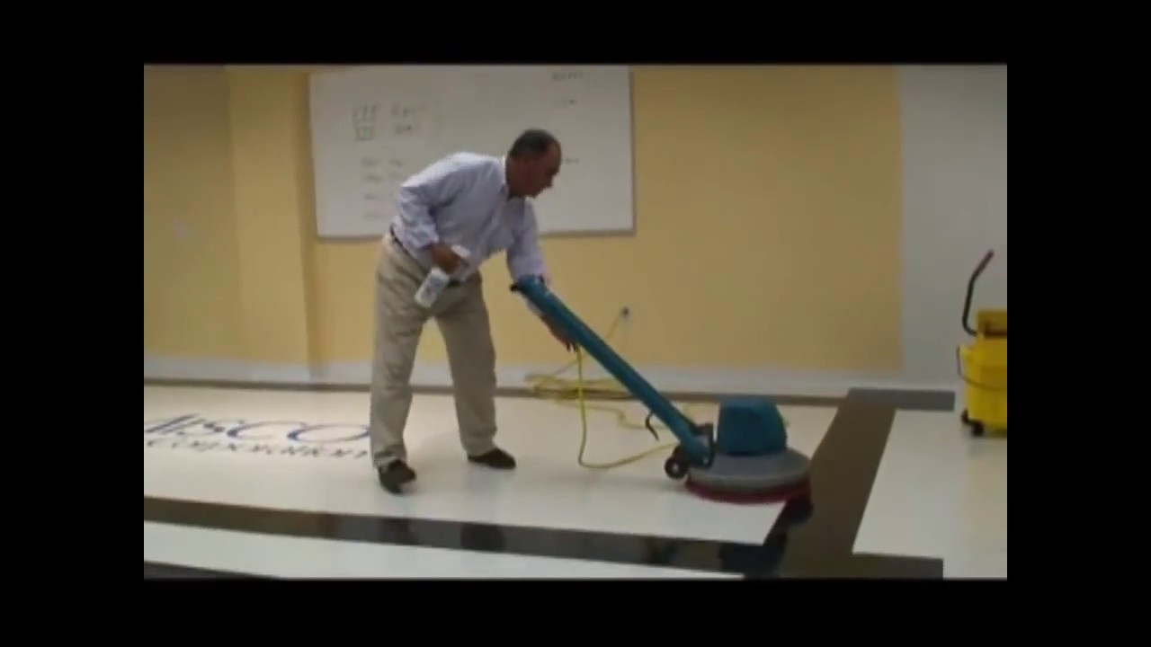 How To Spray Buff Floors YouTube - How to buff a tile floor without a buffer