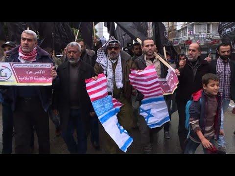Palestinians protest Trump's Jerusalem plan