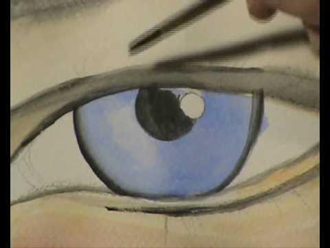 Como pintar un ojo en acuarela con arcadio esquivel how for Como pintar un ojo