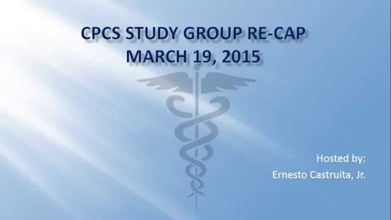 Cpcs exam study group re cap 03192015 youtube cpcs exam study group re cap 03192015 fandeluxe Images