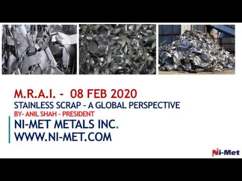 STAINLESS SCRAP A GLOBAL PERSPECTIVE FEBRUARY 2020