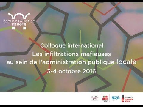 Colloque international - Les infiltrations mafieuses au sein de l'Administration Publique Locale