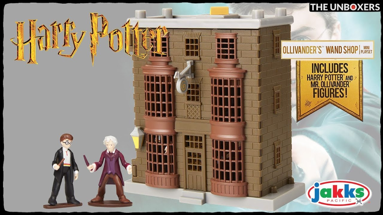 Ollivander Wand Shop Mini Playset Official Harry Potter Quidditch Pitch