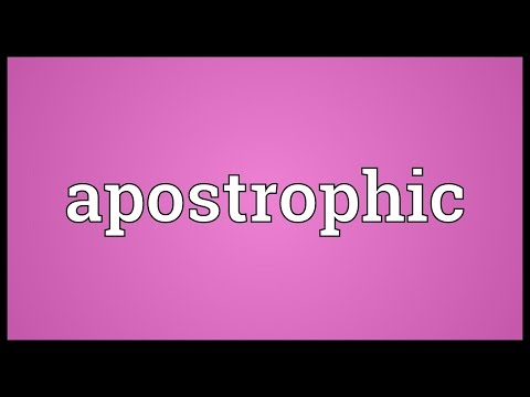 Apostrophic Meaning