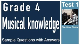 Grade 4 Musical Knowledge Questions with Answers - Test 1