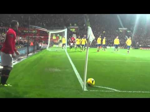 Rooney Corner Robin Van Persie Scores and celebrates against Arsenal 10/11/13