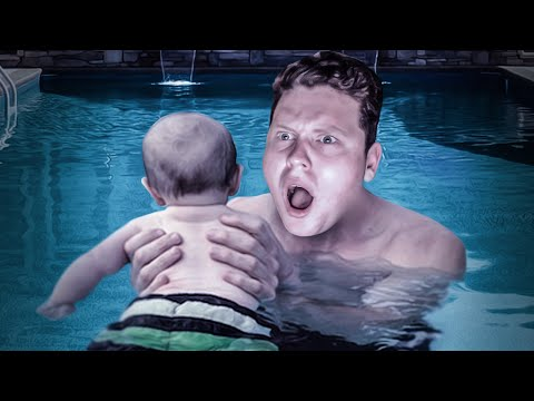 SAVE THE BABY IN THE POOL!!! (Who's Your Daddy: The Hungry Games)