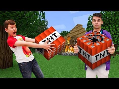 Летсплей Minecraft - Зачем Нубу тнт в Майнкрафт деревне? - Видео обзор игры в шоу Кубик Нубика.