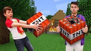 Летсплей Minecraft - Зачем Нубу тнт в Майнкрафт деревне - Видео обзор игры в шоу Кубик Нубика.