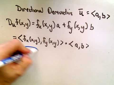 The Gradient Vector - Notation and Definition