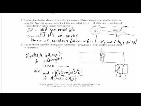CPSC 320 Worked Example, Divide and Conquer: Part 3, Efficient Algorithm