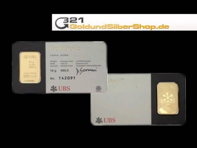 10 g Goldbarren, 10g 10 Gramm (321goldundsilbershop.de)