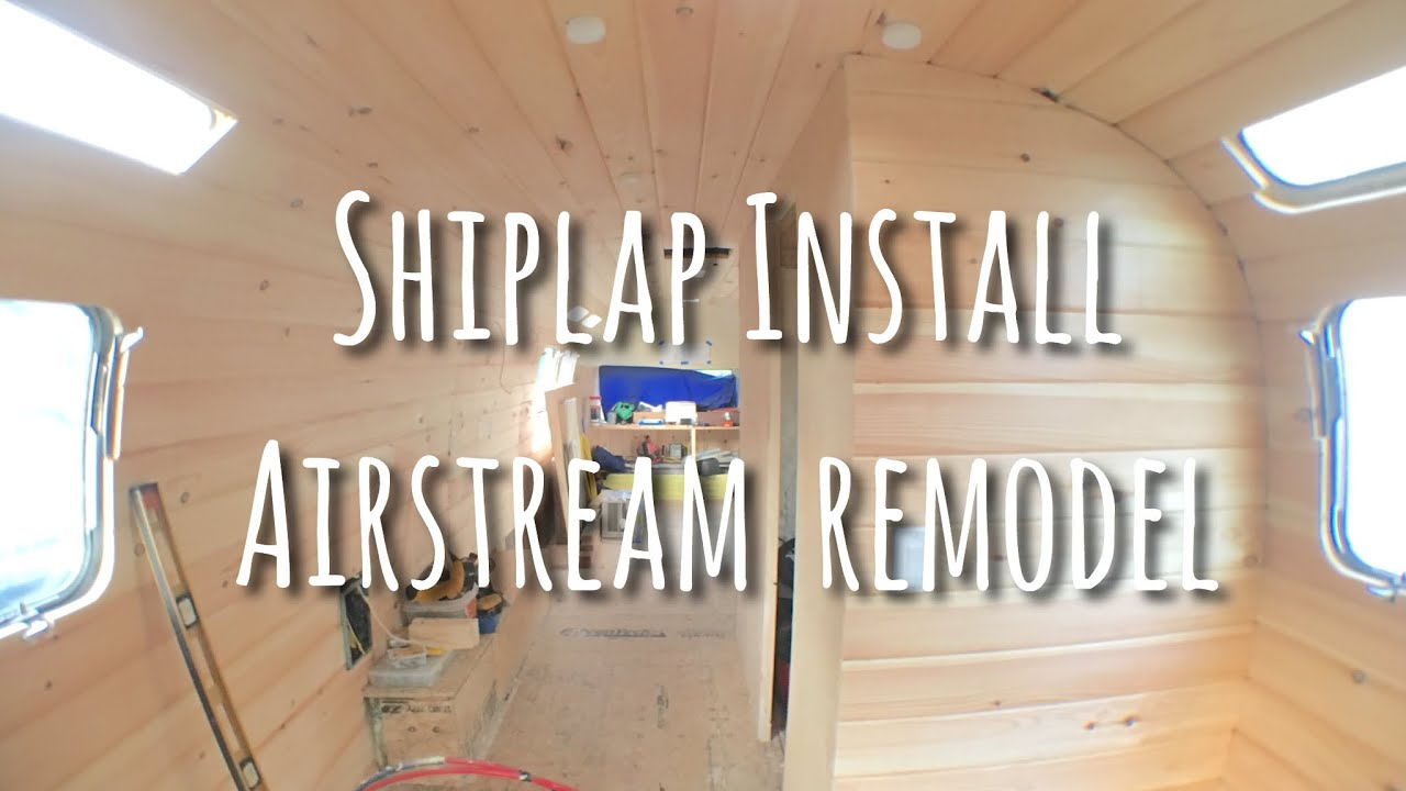 How to Tongue and Groove a Wall AIRSTREAM REMODEL