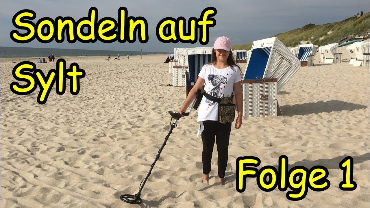 Strandsuche mit Metalldetektor EuroTek PRO auf Sylt - YouTube