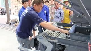Hollow block Thailand : เครื่องอัดอิฐบล็อก 4 ก้อน 1/2 #โรงกลึง ศ.รุ่งเรือง #SorRungRoung